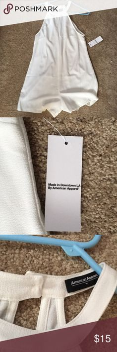 American Apparel White Romper This is an American apparel All white high neck romper.  Never worn, New with tags.  Size medium. American Apparel Other