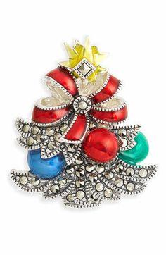 JUDITH JACK NWT CHRISTMAS TREE PIN BROOCH $175