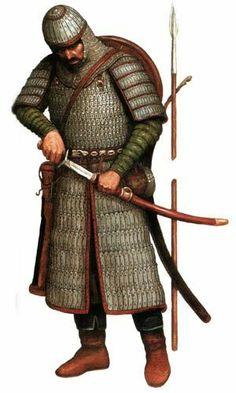 Reconstructed Heavy Armoured Kök Turk (Tujue) Warrior of Balyk - Sook, Turkic Khaganate Era