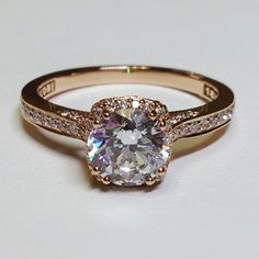 tacori gold engagement ring- I never wear silver anymore so if I ever get married...needs to be gold or rose gold