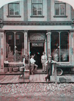 Soule and Ridgway Grocers Store Front-New England [1800s] (Anaglyph) by Phaota2