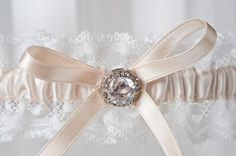 The Corrie wedding garter. Now available for purchase on the website at www.lagartier.com