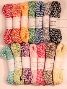 The Twinery baker's twine.  The Ultimate Color Sampler Pack - all 14 colors, 15 yards of each, $25.00