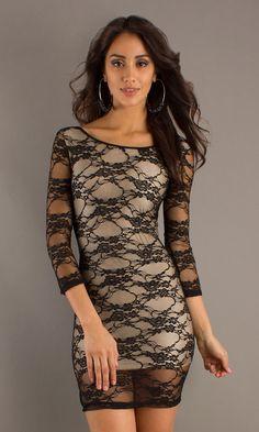 Short Lace Dress CH-201