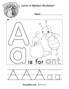 This free printable gives kids the opportunity to learn the letter A through experience. They can write, color, read, and make their very own alphabet book. Preschool Letters, Learning Letters, Alphabet Activities, Preschool Learning, Preschool Activities, Educational Activities, Learning Skills, Teaching Phonics, Preschool Classroom