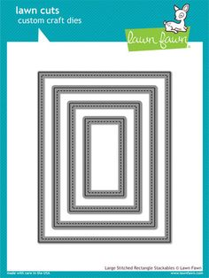 Scrapbooks by Design - Large Stitched Rectangle Stackables, $30.00 (http://www.scrapbooksbydesign.ca/die-cutting/dies/lawn-fawn/large-stitched-rectangle-stackables/)