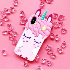 For iPhone X Unicorn phone Cases For iphone 8 7 6 Cute Cartoon horse Soft back Pink case cover girl case Description 6 same with and ip 8 same with and plus Model: Phone Cases Perfectly Fit For iPhone X 6 plus /iP 7 8 Iphone 8, Apple Iphone 6, Coque Iphone 6, Iphone 7 Plus, Pink Iphone, Cartoon Unicorn, Cute Unicorn, Unicorn Diys, 3d Cartoon