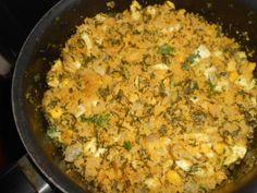 Farofa com farinha de milho