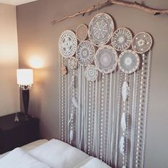 Custom made 10 set wall mural, full photo of this beautiful handmade piece. Custom orders are available, contact us or click the link in our bio for our online store! Sweet dreams!✨ ✨#TrueNorthDreamcatcher