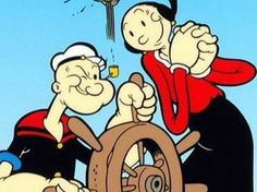 Popeye the Sailor Man and his sweetheart, Olive Oil - Saturday tradition  #bornin'74