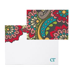 paisley - note cards