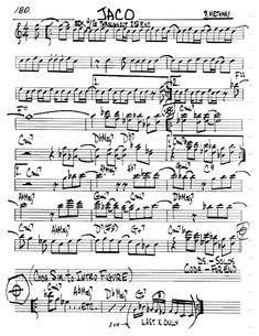 Practice Jazz: [Jazz Real Book II : Page Jaco (Pat Metheny) - Jazz Standard Sheet Music Guitar Tabs Acoustic, Jazz Guitar, Music Theory Guitar, Pat Metheny, Jazz Standard, Jaco, Sheet Music, Books, Musica