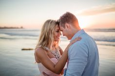San Diego Wedding Photographer: Bianka and Mike shot their engagement session on Windansea Beach and under the Scripps Pier in blue and blush. #engagement #Engaged #wedding #engagementphotos #studiosequoia #windansea #scrippspier