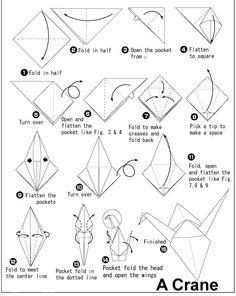 ORIGAMI CRANE HOW TO MAKE