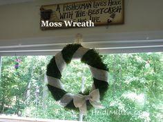 Decor & More: Burlap & Moss Wreath