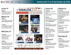 Agenda semanal del 17 al 23 de octubre de 2016