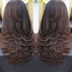 Frizura Charming Hairstyles for Mid-Length Hair for Summer 2019 - Page 5 of 20 - Fashion Medium Hair Cuts, Long Hair Cuts, Medium Hair Styles, Curly Hair Styles, Layers For Long Hair, Long Layered Hair Wavy, Medium Cut, Curly Short, Short Cuts