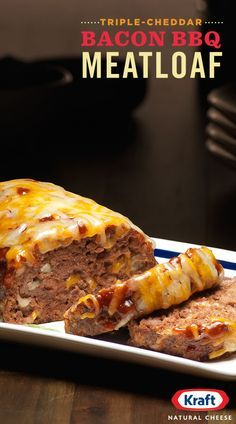 There's meatloaf and then there's THIS. Our Triple Cheddar BBQ Meatloaf brings together flavors of creamy KRAFT Triple Cheddar cheese and tangy BBQ sauce in a beefy, bacon-y slice of satisfaction.