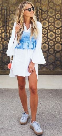 White + Blue ~ Outfits for Summer, LuvvIt