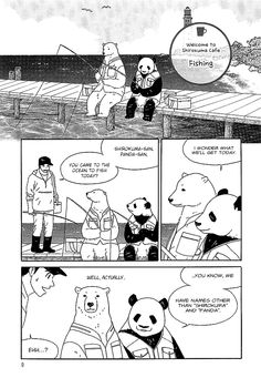 Shirokuma cafe manga