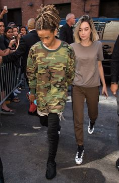Jaden Smith at Yeezy Spring 2016 Ready-to-Wear } Like the brown outfit