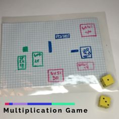 Are your kids learning multiplication facts? One of my kids is in the beginning stages of learning times tables at our house. We played a fun little array multiplication grid game recently that helped teach the concept really Learning Multiplication Facts, Multiplication And Division, Teaching Math, Math Math, Multiplication Worksheets, Math Fractions, Help Teaching, Teaching Ideas, Easy Math Games