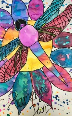 65 Ideas easter art projects for middle school student for 2019 Soul Sisters, Sisters Art, High School Art Projects, Spring Art Projects, Dragonfly Art, Butterfly Art, Butterflies, Watercolor And Sharpie, Watercolor Painting