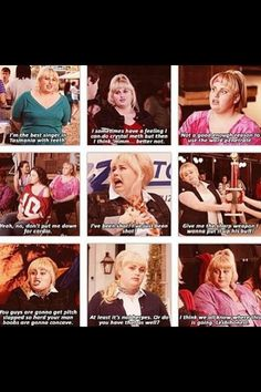 Pitch perfect, haha love her