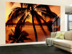 Great palm wall mural