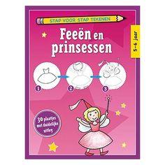 Stap voor stap Tekenen - Feeen en Prinsessen (set van4)