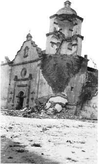 The Mission San Luis Rey de Francia bell tower collapsed in 1926