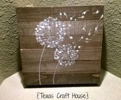{Texas Craft House} How to paint a dandelion flower