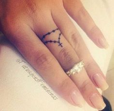 Small Rosary Finger Tattoo.