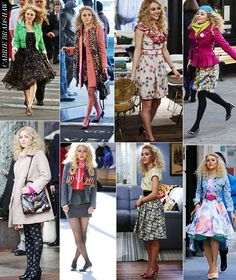 The Carrie Diaries style- my faveorite is probably either the third one on top or the fourth one on the bottomm