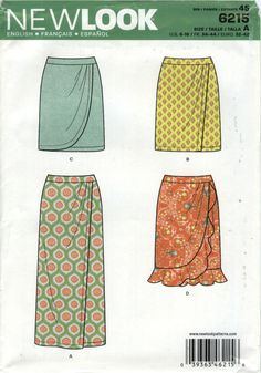 New Look 6215 Misses' Skirt Six Sizes in One