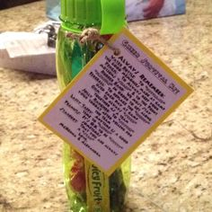 Cheer camp survival kit! Words in parentheses: bottle-up, sharp, flexible, energy, stick, soothe, laugh, nutty, star!