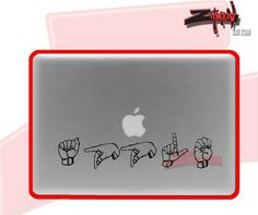 ASL Sign Language Apple Macbook Decal by ZitmanArt on Etsy, $10.00 ****would like this for my iPad****** :)