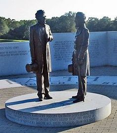 Statues of Abraham Lincoln and Jefferson Davis at Vicksburg National Military Park....Davis was the first and only President of the Confederate States of America