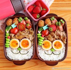 Bento Recipes, Healthy Recipes, Cute Food, Yummy Food, Bento Kids, Aesthetic Food, Food Menu, Food Presentation, Asian Recipes