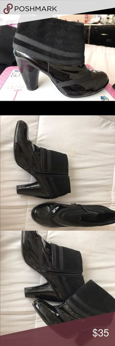 Black Glossy Ankle Booties Super stylish and in great condition. Black Gloss Ankle Booties Shoes Ankle Boots & Booties