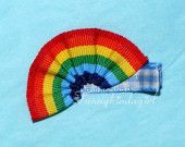 Over the Rainbow Blue Gingham Ribbon Sculpture Hair Clip Brooch or Magnet