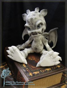 Rocky the Gargoyle ~ ball joint doll BJD  by TheMushroomPeddler.  I'm a big fan of this Company, alas it's a bit out of my budget but I still enjoy looking at them ~ So Cute♡