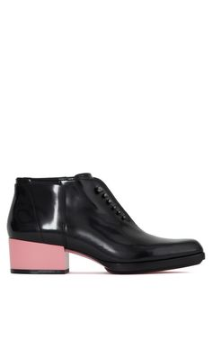 Newton Boot In Black With Peony Heel by 3.1 Phillip Lim for Preorder on Moda Operandi