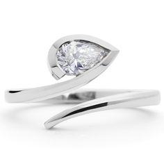 #White #PearCut #Diamond and #Platinum #Ring by David and Barry McCaul http://www.fldesignerguides.co.uk/engagement-ring-designer/mccaul