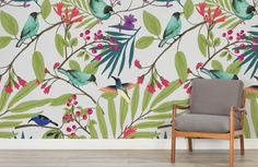 illustrated-birds-and-berries-mural-art%ef%bb%bf-room