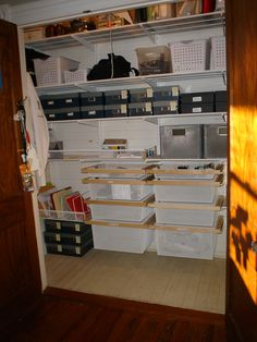 Double Closet Organized With Elfa   I Was Thinking This Would Work Against  The Wall You