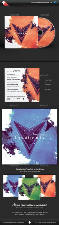 Love Beats - Creative CD Cover Artwork Template PSD. Download here: https://graphicriver.net/item/love-beats-creative-cd-cover-artwork-template/17485946?ref=ksioks