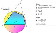 Problem 1172 Cyclic Quadrilateral, Circle, Secant, Triangle, Similarity, Metric Relations, Plane Geometry