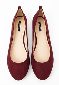 "Nothing whispers ""classy"" like a wine-colored velour ballet flats."