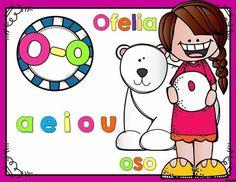 Decoramos la clase con carteles de vocales Animal Crafts, Craft Activities, Back To School, Kindergarten, Preschool, Snoopy, Education, Comics, Animals